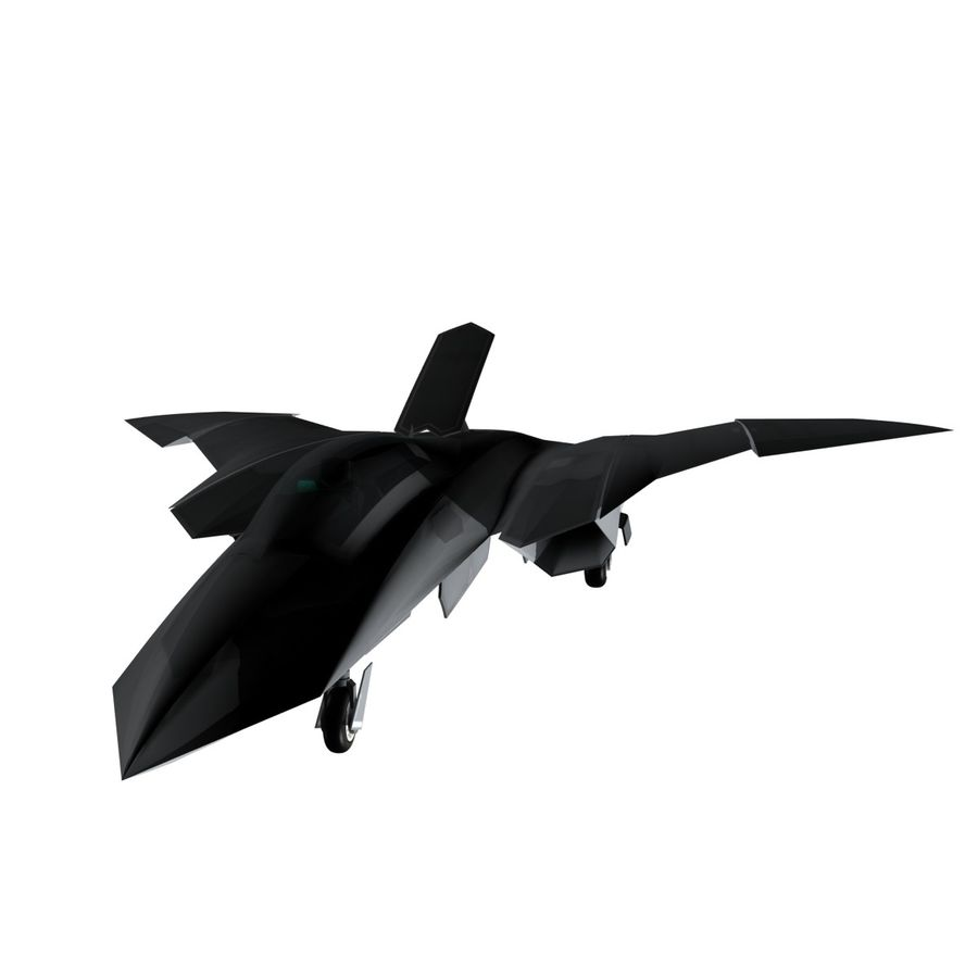 Concept Fighter (KF1-AX) royalty-free 3d model - Preview no. 14