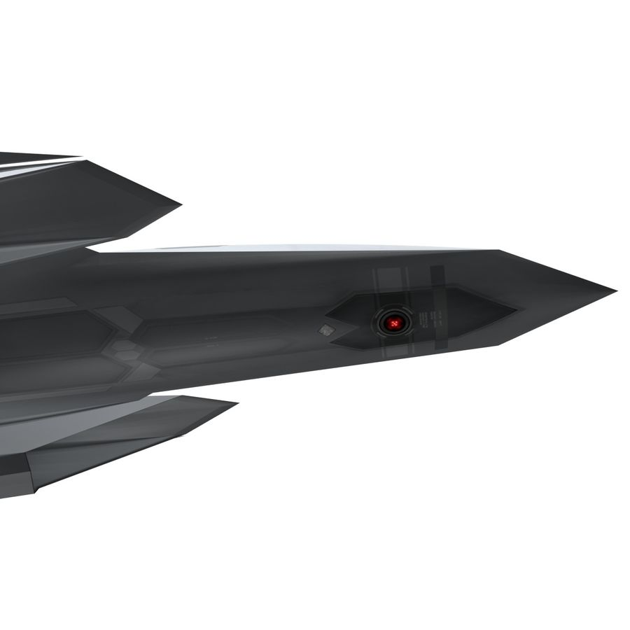 Concept Fighter (KF1-AX) royalty-free 3d model - Preview no. 10