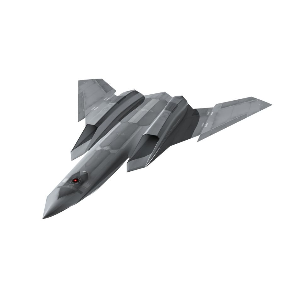 Concept Fighter (KF1-AX) royalty-free 3d model - Preview no. 13