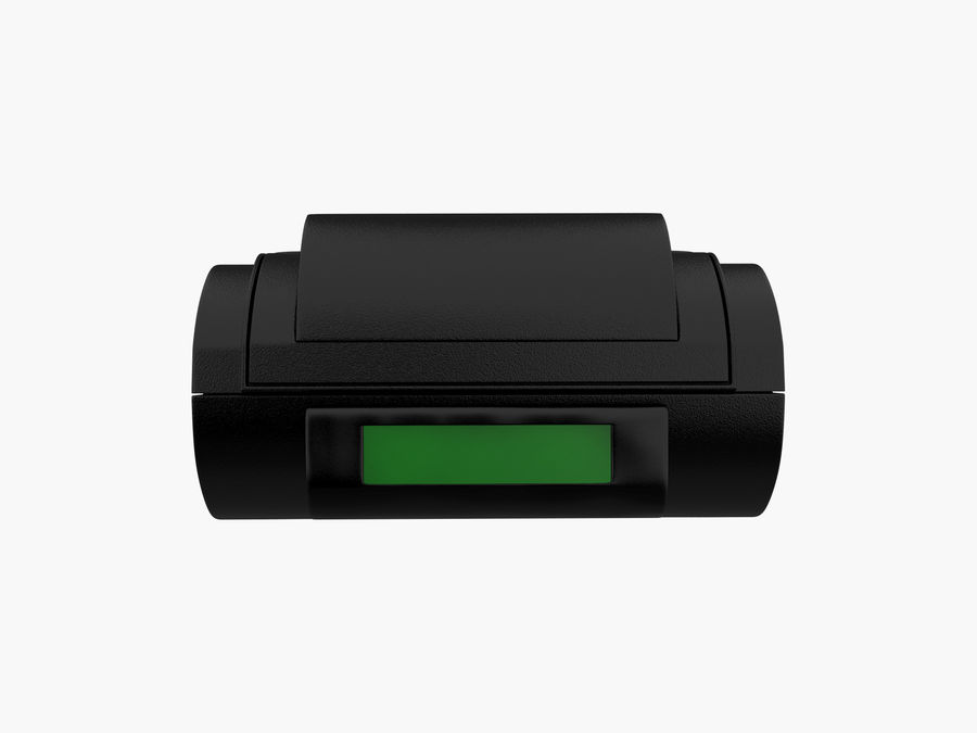 Credit Card Terminal royalty-free 3d model - Preview no. 3