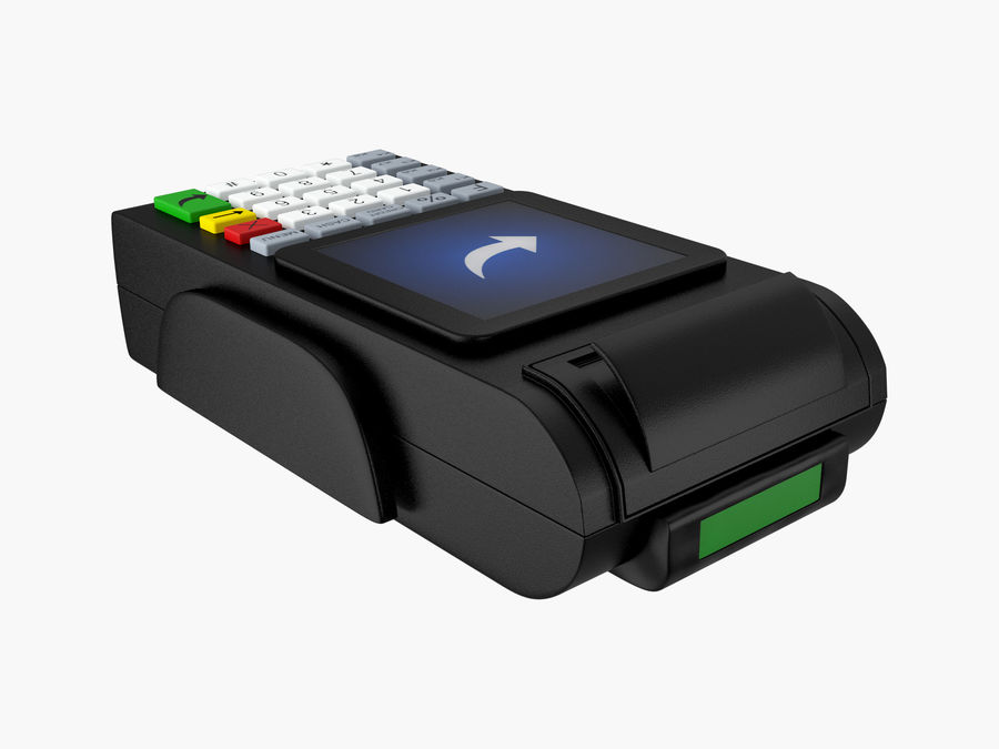 Credit Card Terminal royalty-free 3d model - Preview no. 2