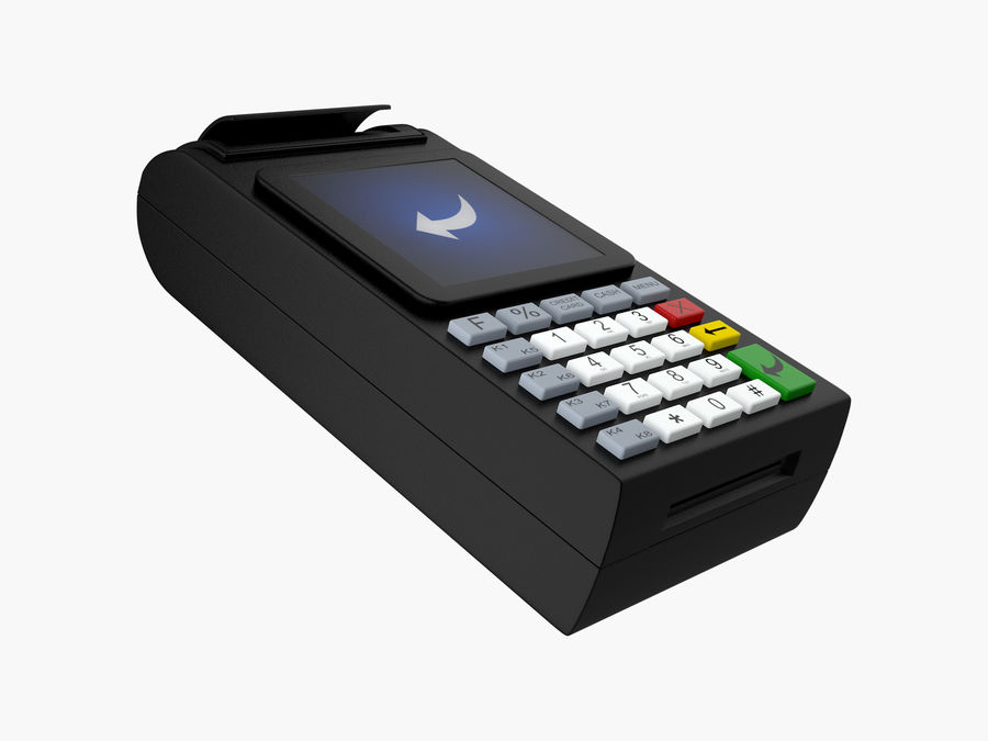 Credit Card Terminal royalty-free 3d model - Preview no. 4
