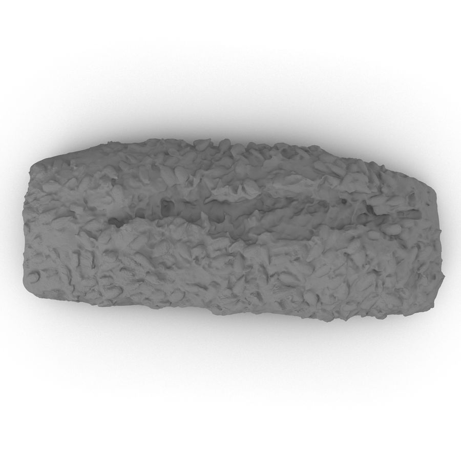 Seeded Bread Roll 02 royalty-free 3d model - Preview no. 8