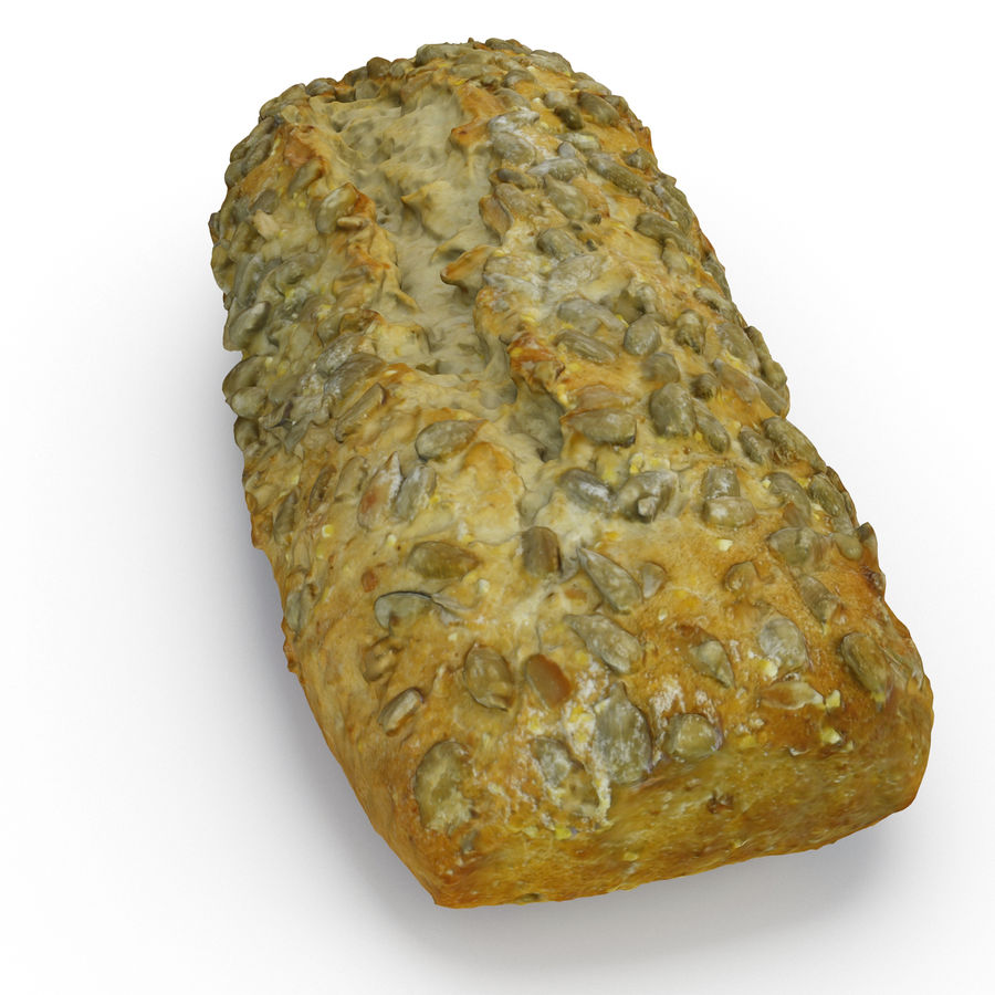 Seeded Bread Roll 02 royalty-free 3d model - Preview no. 7