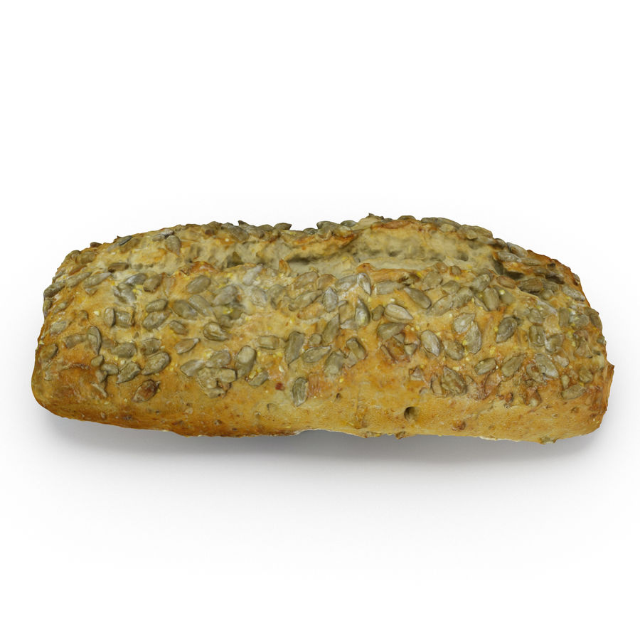 Seeded Bread Roll 02 royalty-free 3d model - Preview no. 2