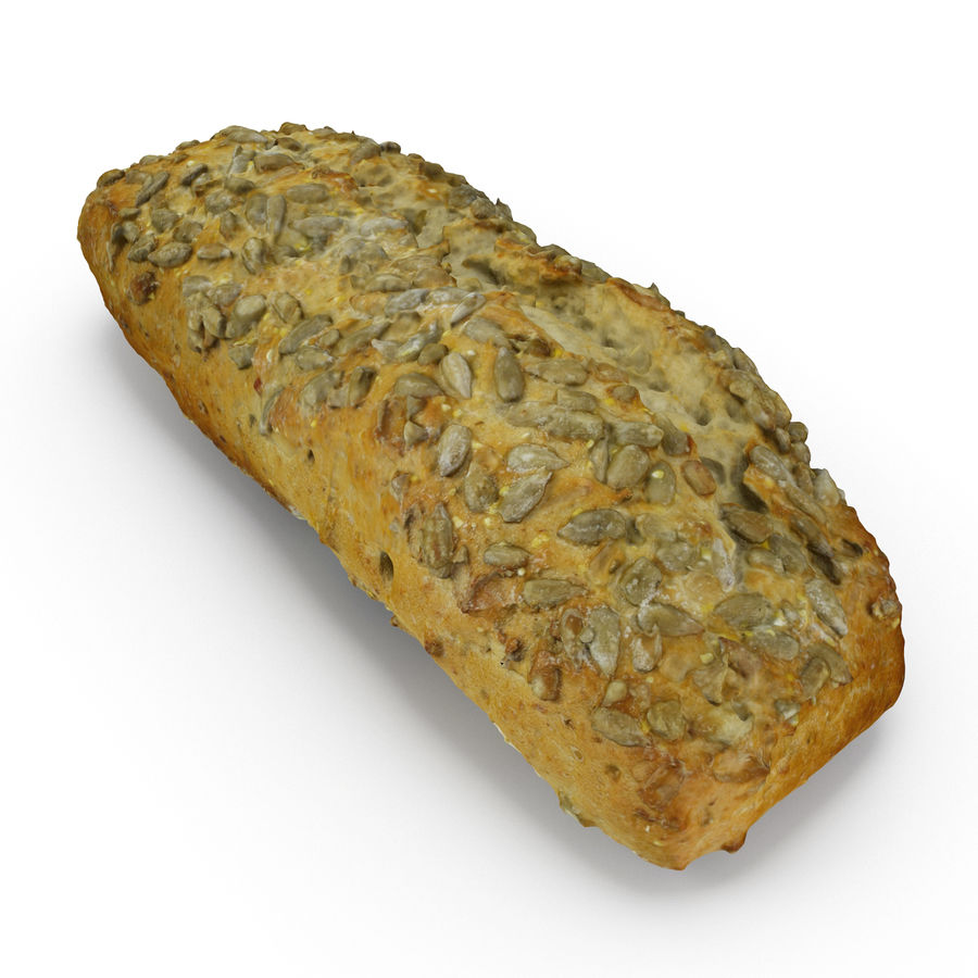 Seeded Bread Roll 02 royalty-free 3d model - Preview no. 5