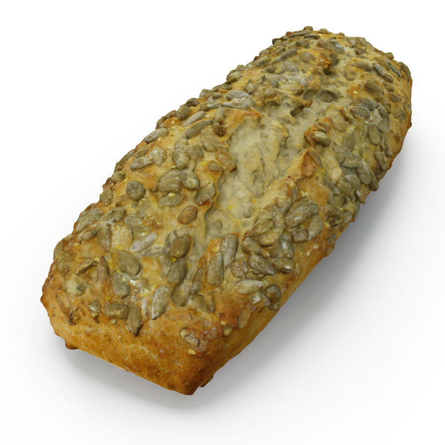 Seeded Bread Roll 02 royalty-free 3d model - Preview no. 6