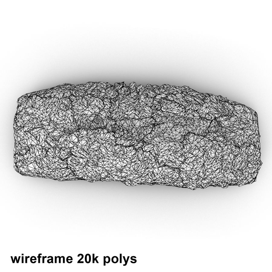 Seeded Bread Roll 02 royalty-free 3d model - Preview no. 10