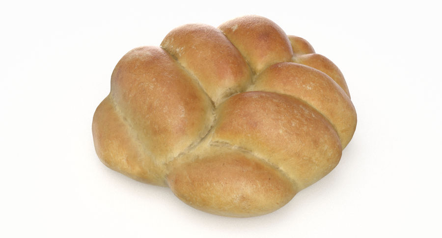 Bread Roll royalty-free 3d model - Preview no. 5