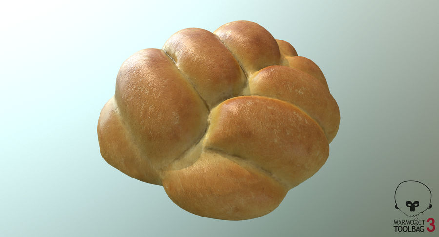 Bread Roll royalty-free 3d model - Preview no. 9