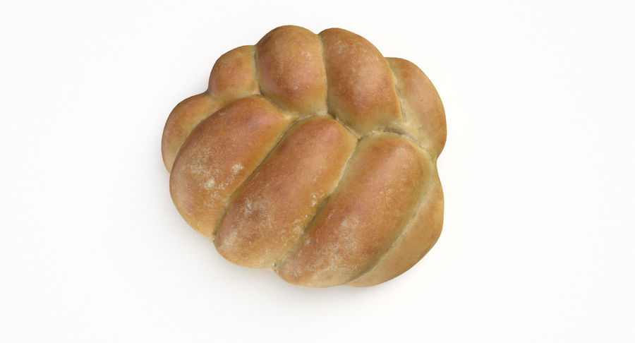 Bread Roll royalty-free 3d model - Preview no. 7