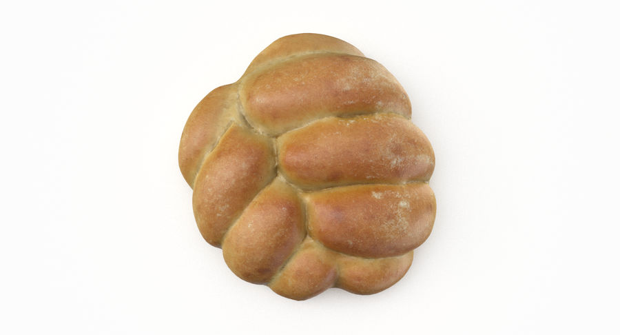 Bread Roll royalty-free 3d model - Preview no. 4
