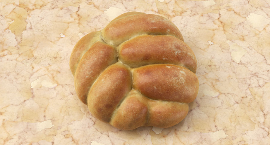 Bread Roll royalty-free 3d model - Preview no. 3