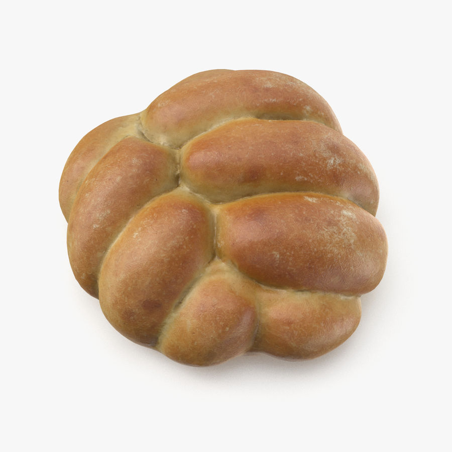 Bread Roll royalty-free 3d model - Preview no. 1