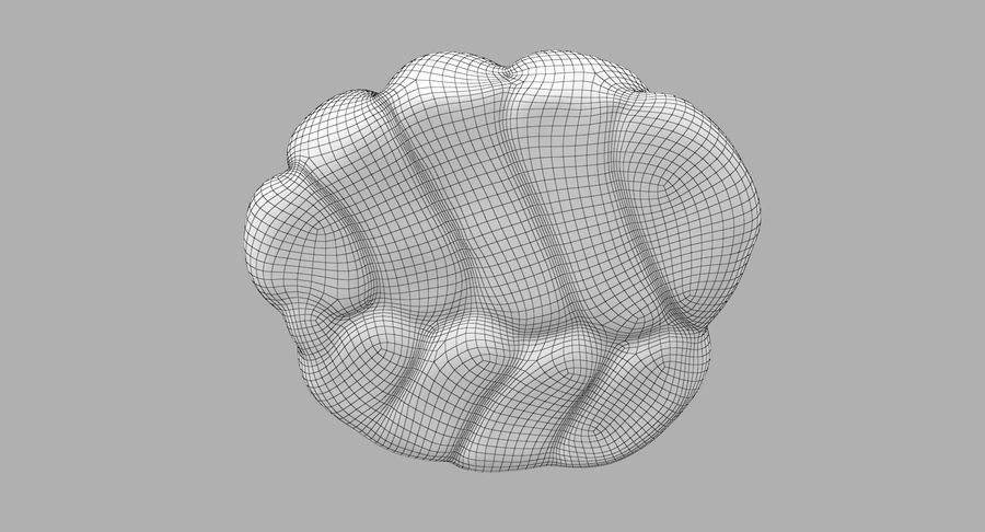Bread Roll royalty-free 3d model - Preview no. 14