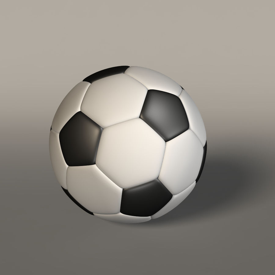 Soccer Ball royalty-free 3d model - Preview no. 3