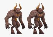 Minotaur Bull with Animation 3d model