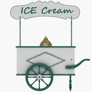 Old Ice Cream Cart 3d model