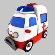 Toon Ambulance 3d model