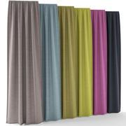 Curtains 01 3d model