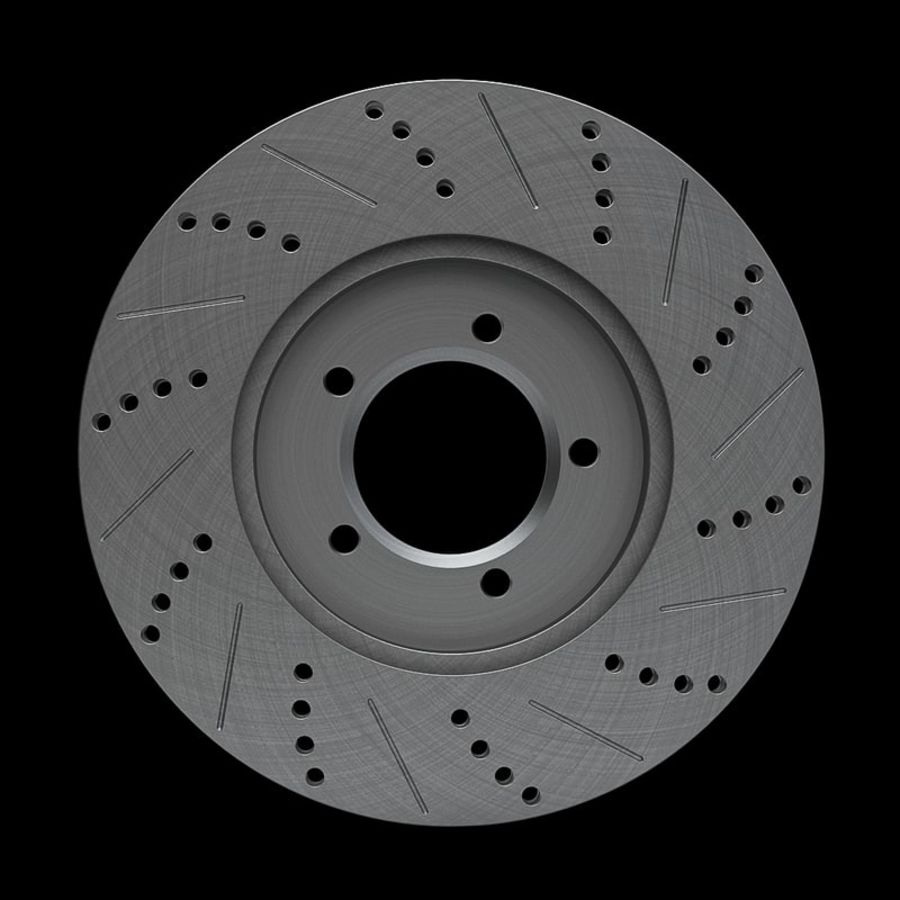 Brake Disk royalty-free 3d model - Preview no. 7