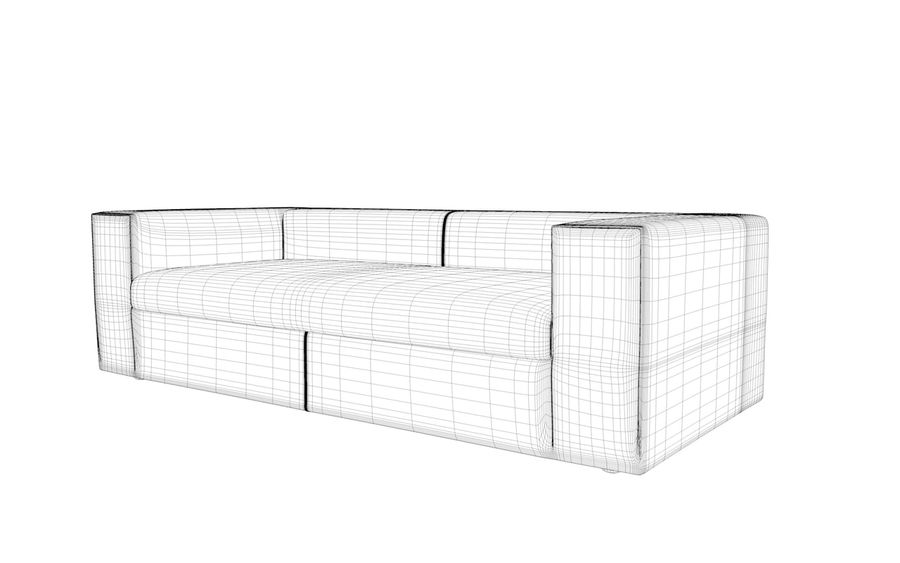 Sofa royalty-free 3d model - Preview no. 12