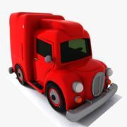Cartoon Transport Truck 2 3d model