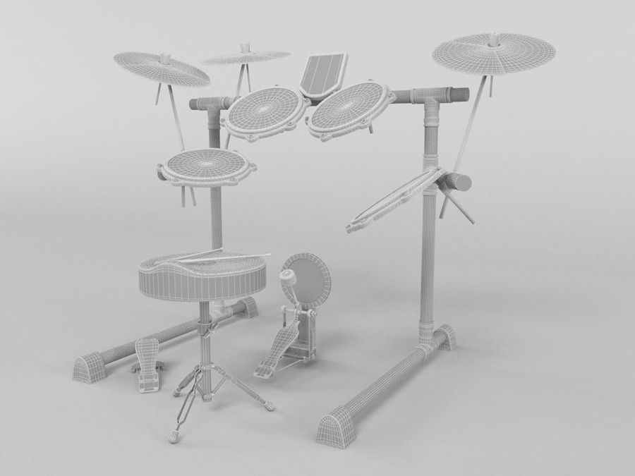 TAMBOUR ELECTRONIQUE royalty-free 3d model - Preview no. 4