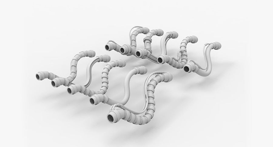 Sci-Fi Tubes 02 royalty-free 3d model - Preview no. 9