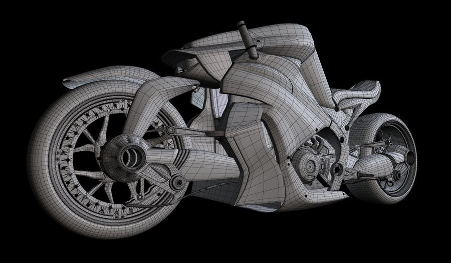 Motorcycle Ostoure royalty-free 3d model - Preview no. 7