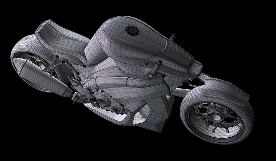Motorcycle Ostoure royalty-free 3d model - Preview no. 13