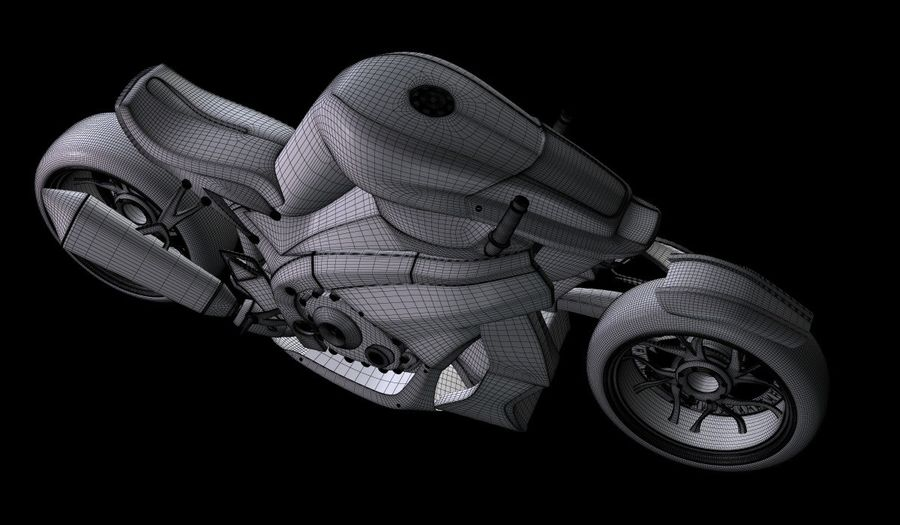Motorcycle Ostoure royalty-free 3d model - Preview no. 14
