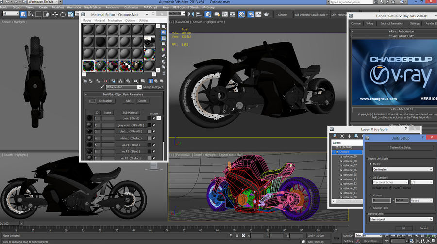 Motorcycle Ostoure royalty-free 3d model - Preview no. 16