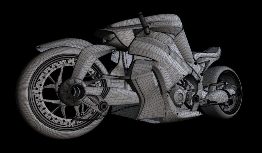 Motorcycle Ostoure royalty-free 3d model - Preview no. 8