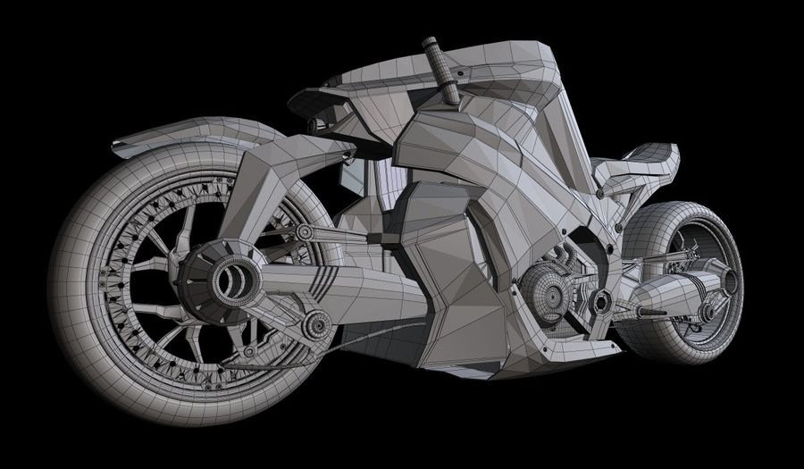 Motorcycle Ostoure royalty-free 3d model - Preview no. 6