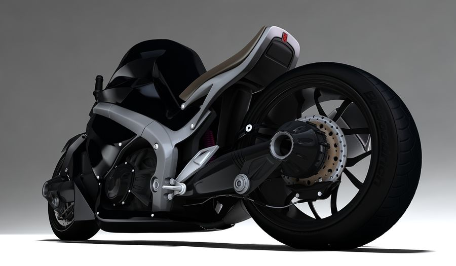 Motorcycle Ostoure royalty-free 3d model - Preview no. 2
