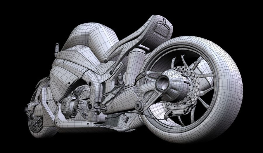 Motorcycle Ostoure royalty-free 3d model - Preview no. 10