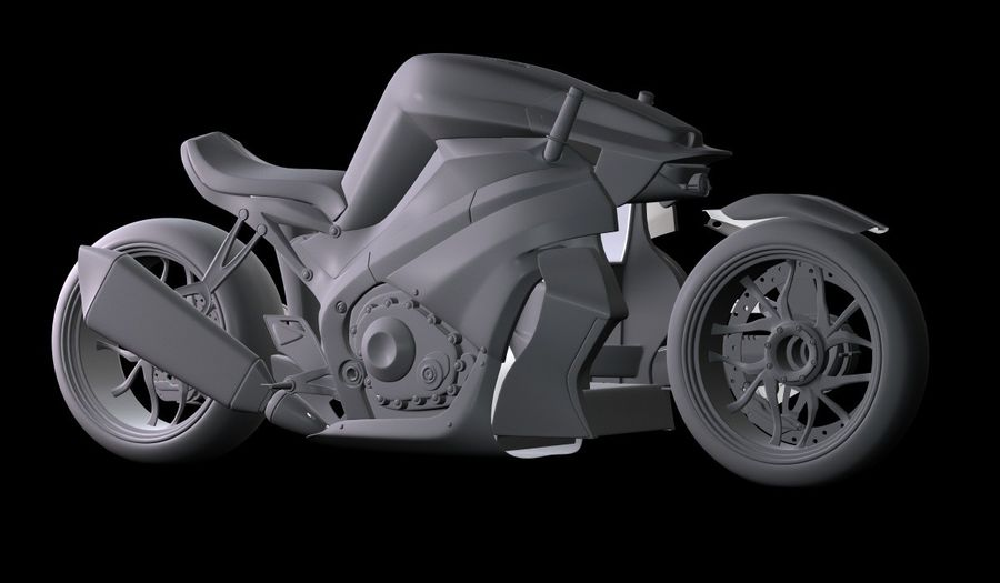 Motorcycle Ostoure royalty-free 3d model - Preview no. 15