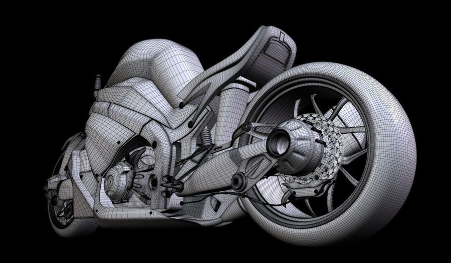Motorcycle Ostoure royalty-free 3d model - Preview no. 11