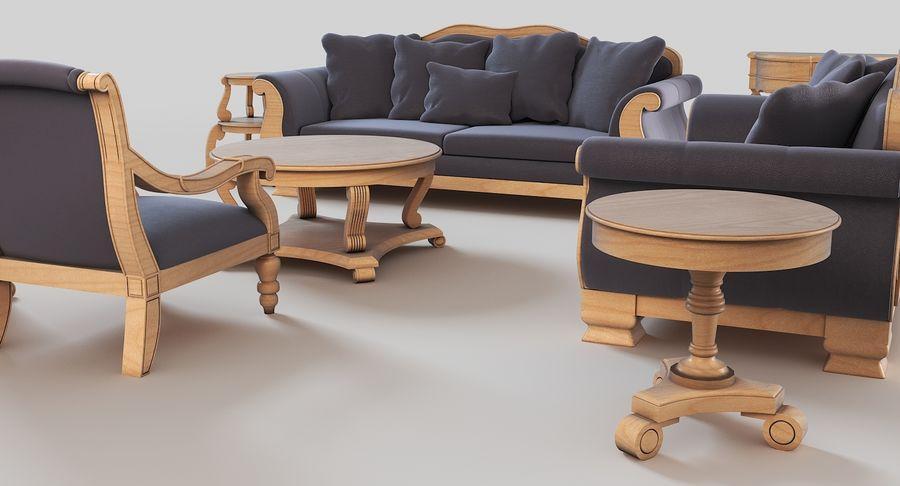 Sala de estar de muebles royalty-free modelo 3d - Preview no. 4