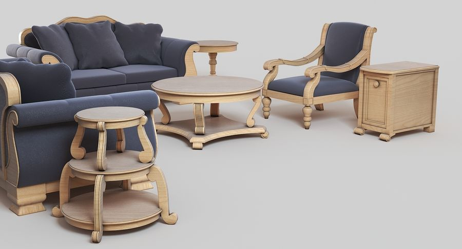 Furniture Living Room royalty-free 3d model - Preview no. 5