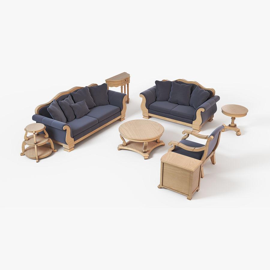 Sala de estar de muebles royalty-free modelo 3d - Preview no. 1