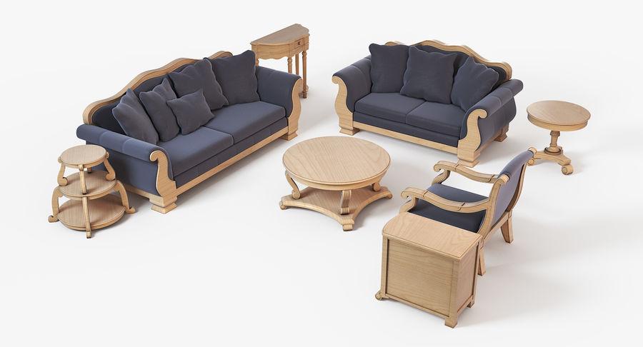 Sala de estar de muebles royalty-free modelo 3d - Preview no. 2