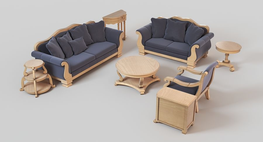 Furniture Living Room royalty-free 3d model - Preview no. 3
