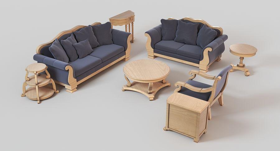 Sala de estar de muebles royalty-free modelo 3d - Preview no. 3