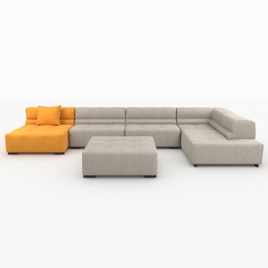 Tufty Time Sofa Royalty Free 3d Model   Preview No. 1