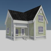 Cartoon House 3 - Residential Town City Farm House Home 3d model