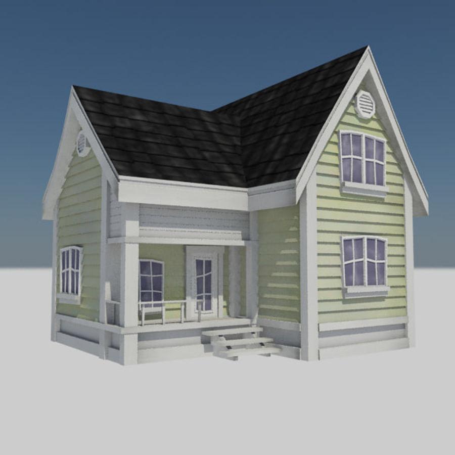 çizgi Film Evi 3 Konut şehir şehir çiftlik Evi Ev 3d Model 8