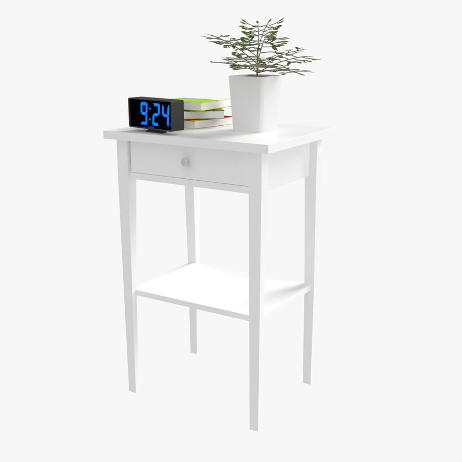 Hemnes Bedside Table royalty-free 3d model - Preview no. 4