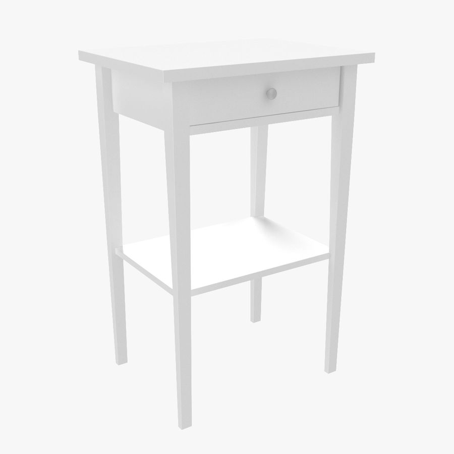 Hemnes Bedside Table royalty-free 3d model - Preview no. 1